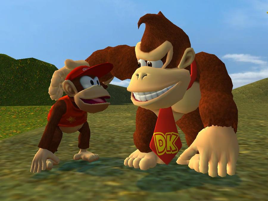Donkey Kong And Diddy Kong By Supersmashbrosgmod On Deviantart