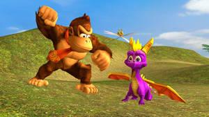 Donkey Kong and Spyro Ragdolls