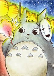 #022 - Totoro on a summer fete by AnzuHirota