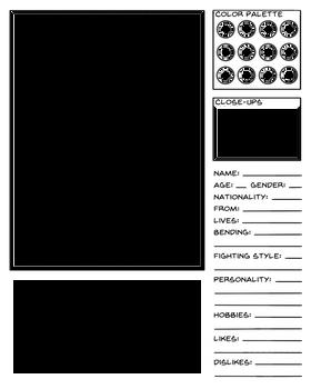 Character Data Sheet Template - AtLA Universe