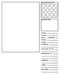 Character Data Sheet Template - Super-powers