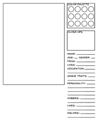 Character Data Sheet Template - Ordinary Character by carenrose