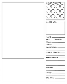 Character Data Sheet Template - Ordinary Character