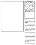 Character Data Sheet Template - Ordinary Character