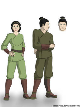 Kun and Lan - Earthbender Brother and Sister