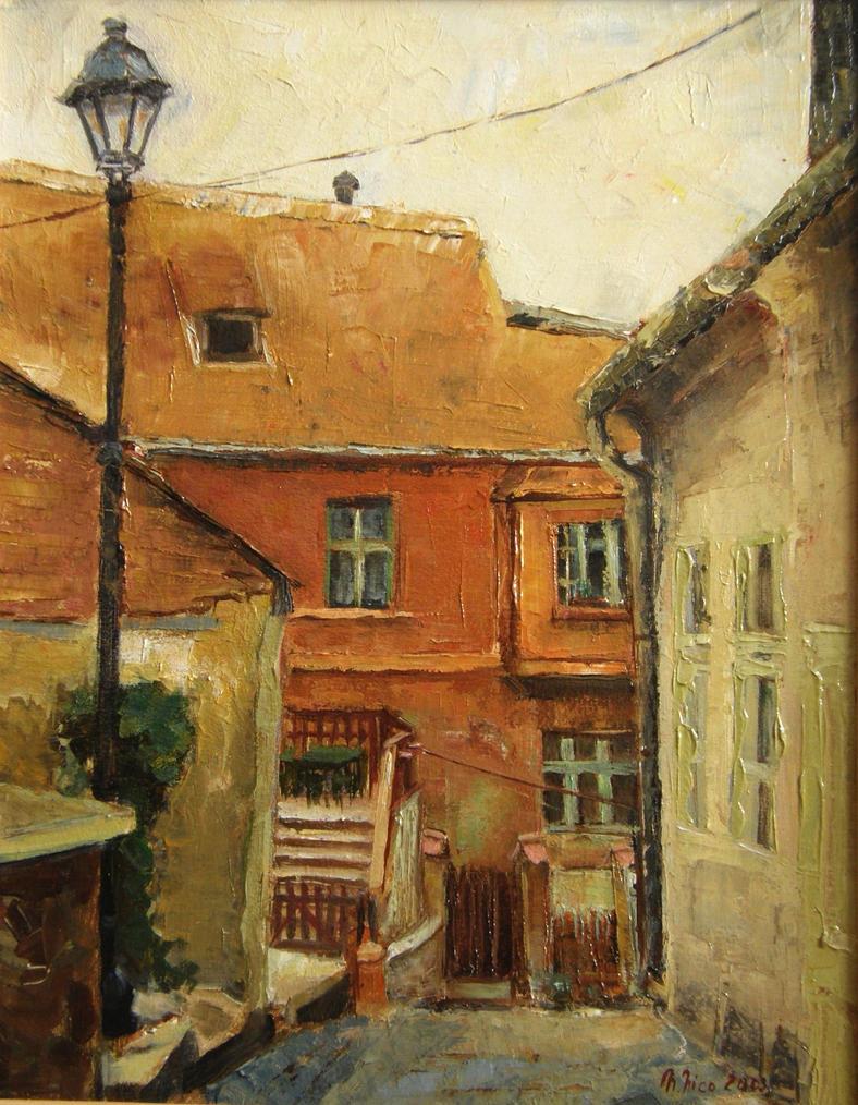 Little yard in Sighisoara by prettywell