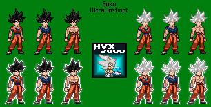 Goku Ultra Instinto Incompleto Y Dominado Sprites By Hvx2000 On