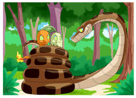 Commission .: Kaa and new friends :.