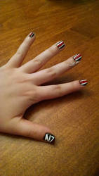 Mass Effect - Inspired nail style by MKn1