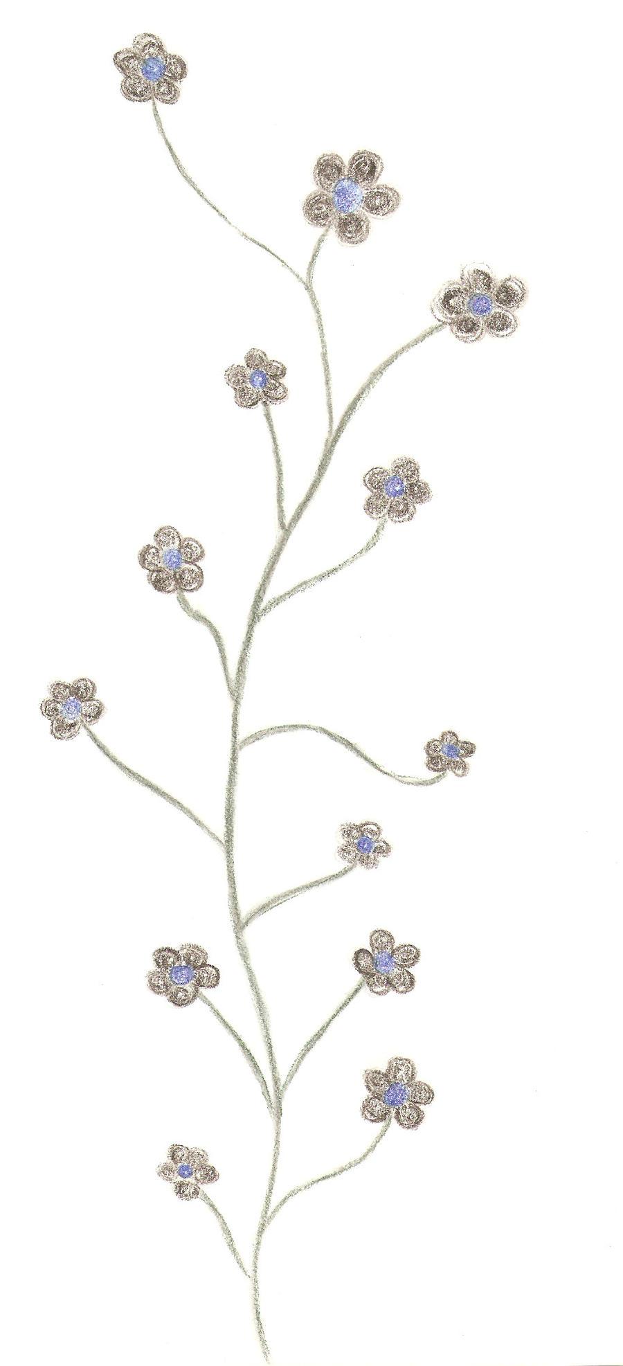 Flower Vine Line Drawing : Flower vine by xxechoxx on deviantart