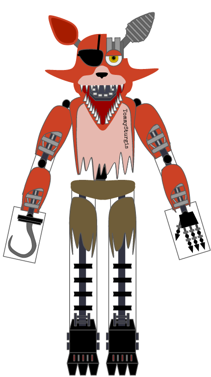Withered Foxy papercraft by TommySturgis on DeviantArt