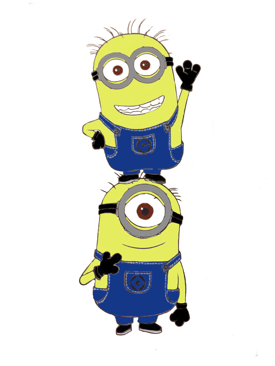 minions from minion coloring book by dwgeer13