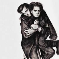 Mikey and Gerard Way by phantosmagoria