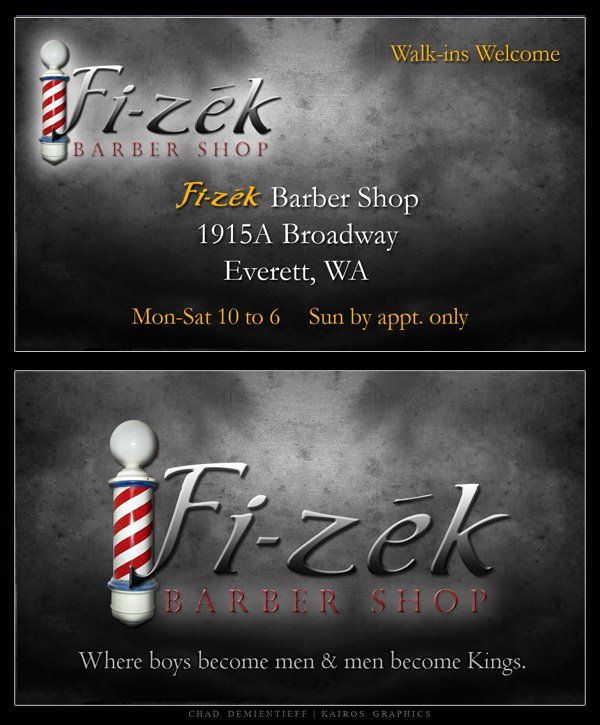 Fi Zek Barber Shop Business Card By Demientieff On