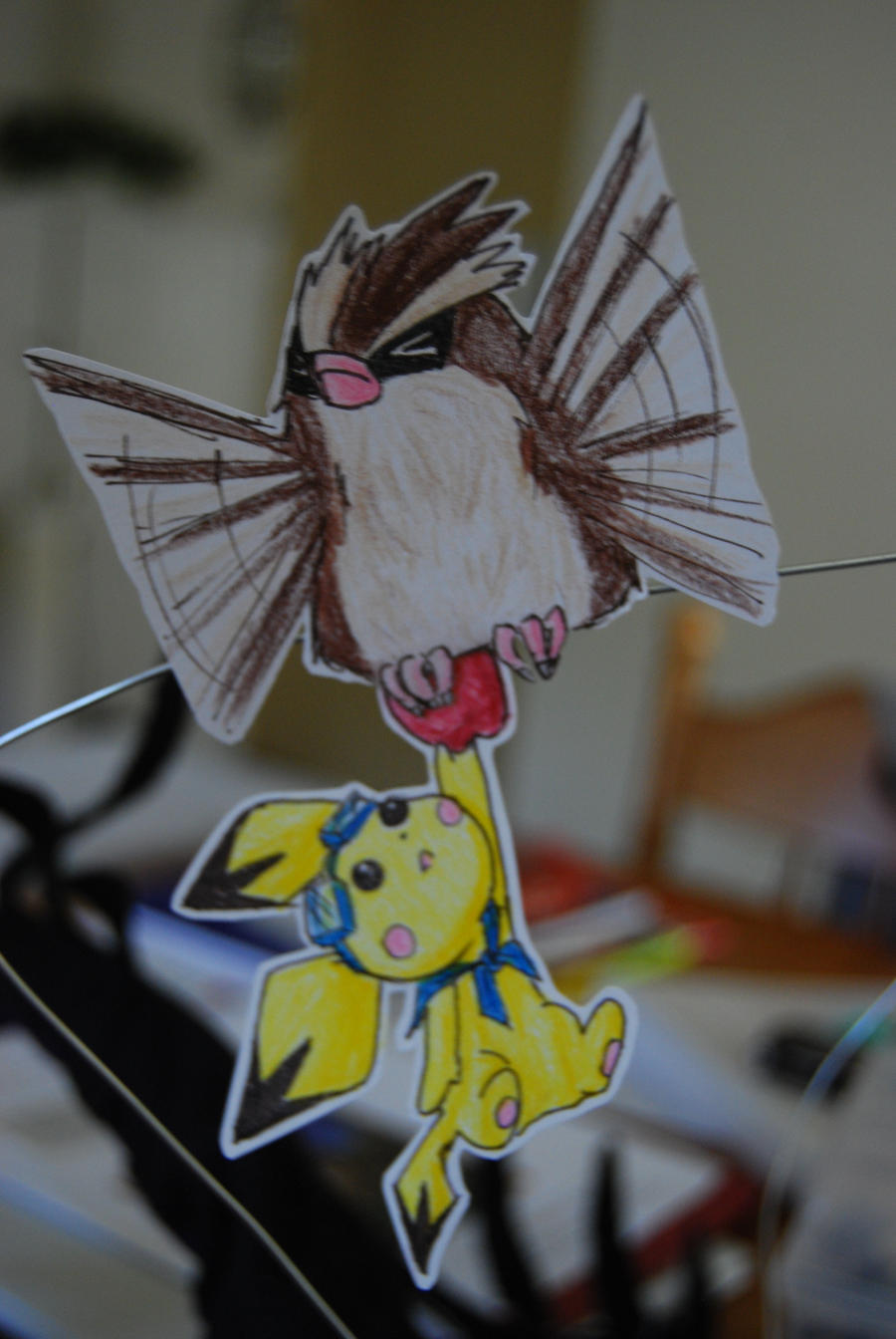 Paperchildren_Pidgey + Pichu by mAgICALnIGHTSKy