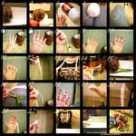 Finger-Knit Scarf Tutorial 1 by BlueEyesNeko