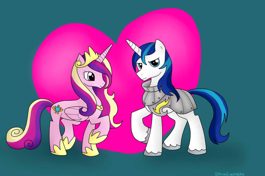 Princess Cadence And Shining Armor By BlueEyesNeko On