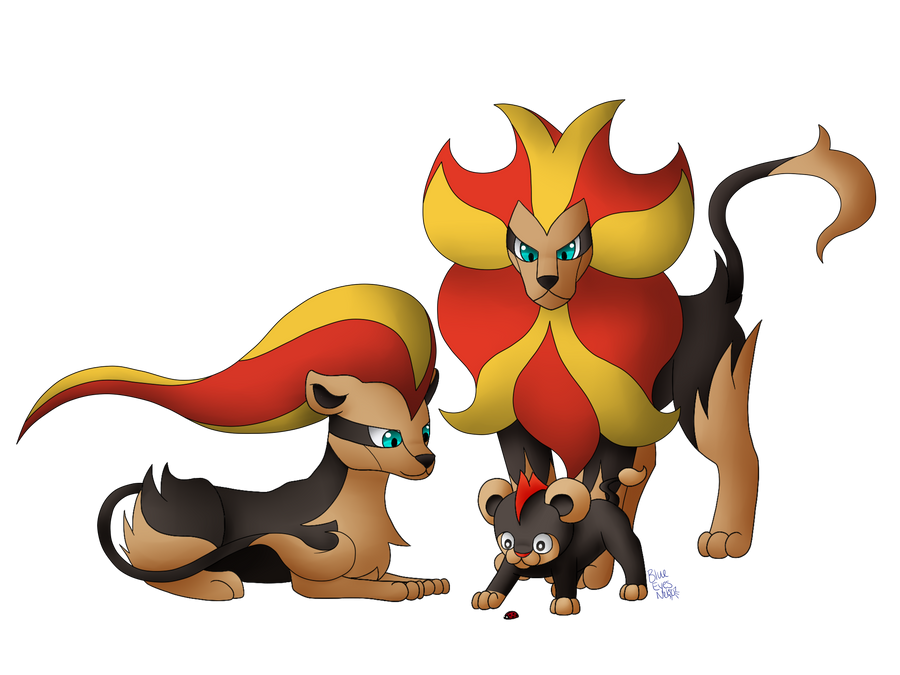 we are family   litleo  pyroar by blueeyesneko d75ttdo