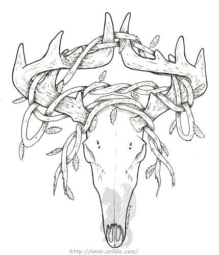 Deer Skull With Vines