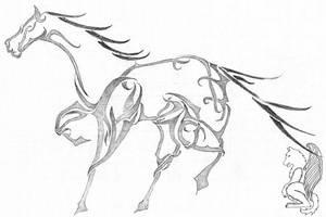 Tribal Horse by arikla