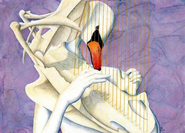 Made a Harp of Her Breastbone by arikla