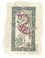 Celtic Flamingo by arikla