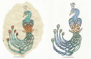 Celtic Peacocks by arikla