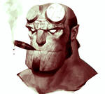 Hellboy Portrait
