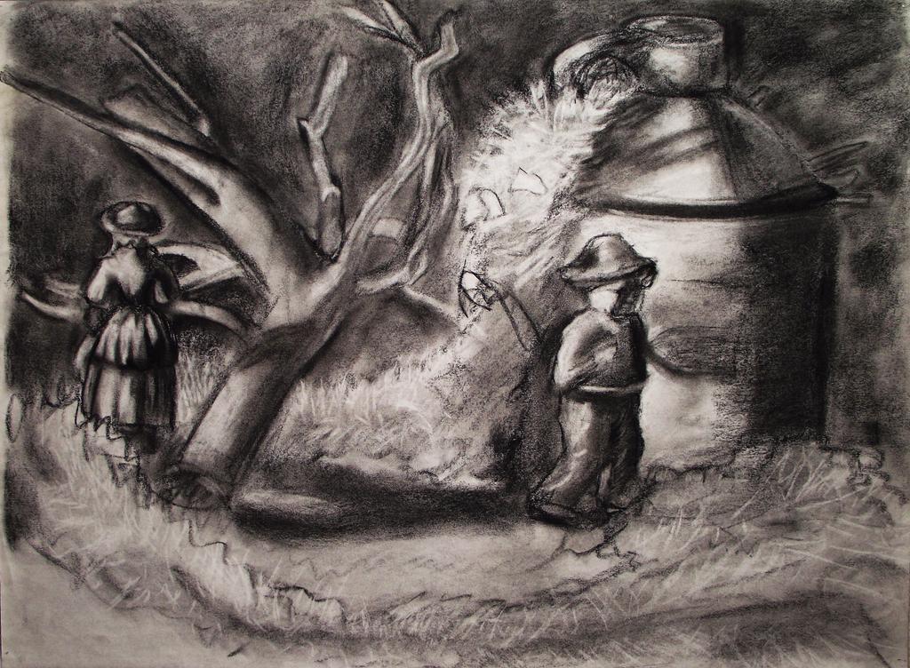 Charcoal Landscape, 2013