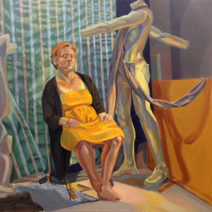 Yellow Dress, Wrinkly Curtain