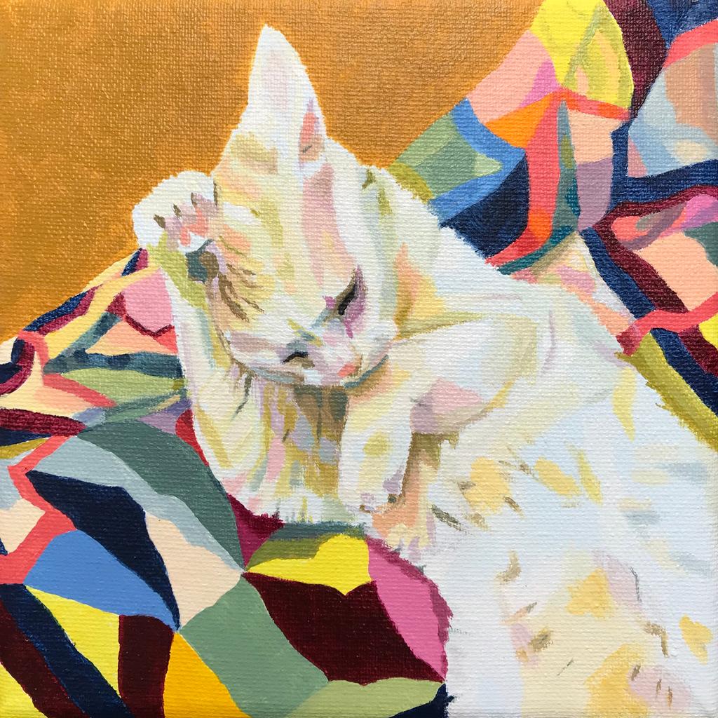 Cat on Quilt, 2018