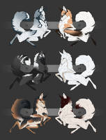 Foxes designs [SOLD] by Blacknemera
