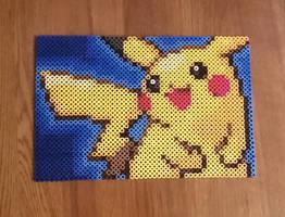 Pikachu Perler Beads by Tigerstar52