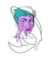 Gd Portrait Baleine Digi Peau Violette