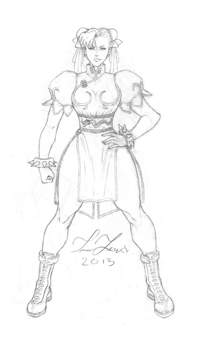 Chun Li sketch... by T-Lew