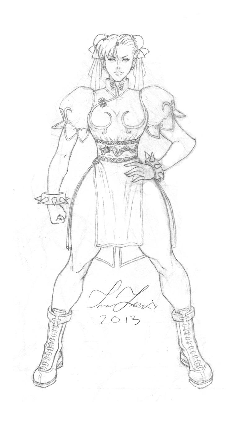 Chun Li sketch... by TrevorBLewis