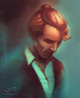 Sherlock Holmes In A Man Bun by Redmarker2611