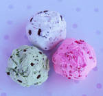 polymer clay ice cream scoops