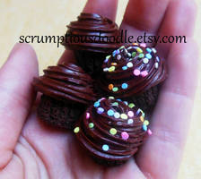 polymer clay cupcake charms by ScrumptiousDoodle