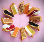 Polymer Clay Miniature Pie Slice Charms