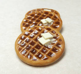Waffle Polymer Clay Food Magnet by ScrumptiousDoodle