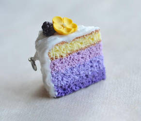 Blackberry Buttercup Purple Ombre Mini Cake Charm