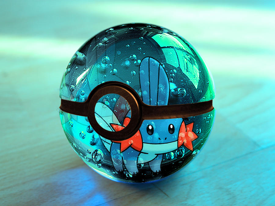 the pokeball of mudkip by franco159487 on deviantart