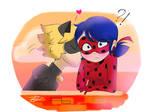 Ladynoir - Miraculous Ladybug fanart