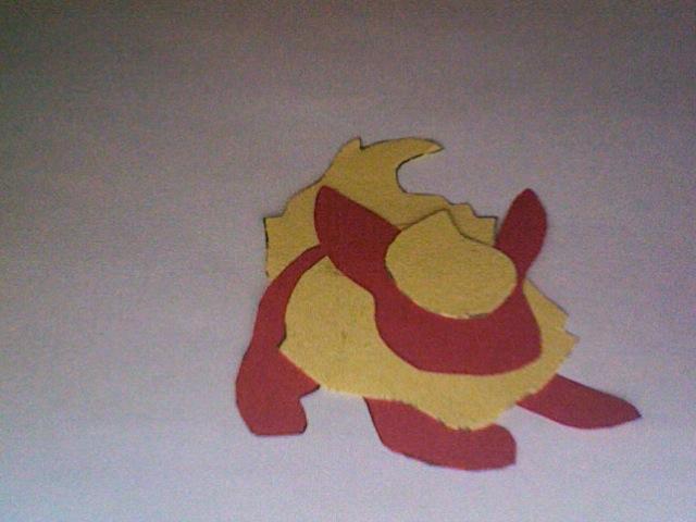 Paper Flareon Sillouhette by daughterofbastet