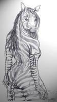 Zebra Girl by Honeytail