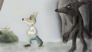A Fox Walking