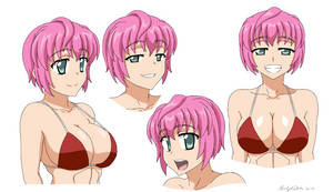 Yoshie Bikini Anime Style