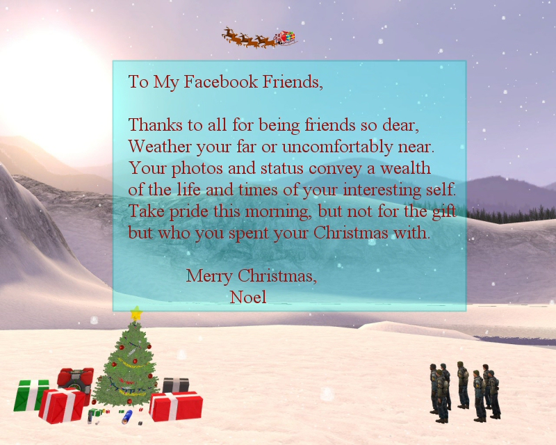 Christmas Card For Facebook Friends | Holliday Decorations