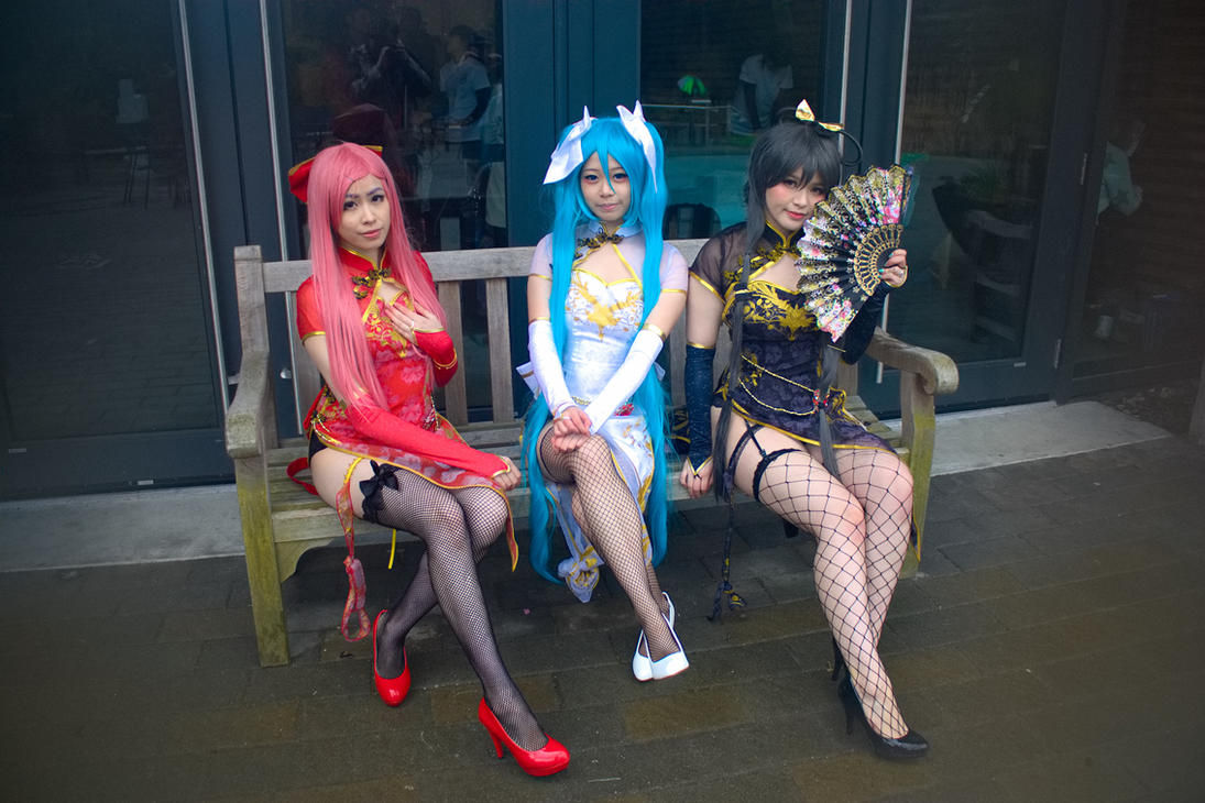 Cosplay shot - Vocaloid in Cheongsam Dresses by tetsuogz